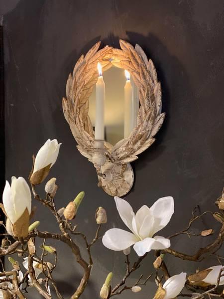 Bilde av Speil med lysholder